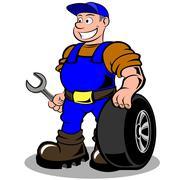 auto mechanic - stock illustration