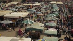 Marrakesh Djemaa el fna square timelapse 1 Stock Footage