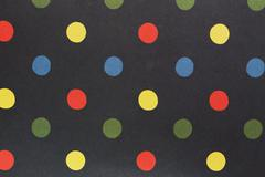 Polka paper dot yellow-red-green-blue Stock Photos