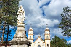Statue and Santa Rosa de Ocopa Convent Stock Photos