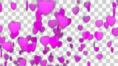 HEART Particles 01-alpha Stock Footage