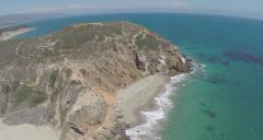 Aerial Shot of Point Dume and Pirates Cove in Malibu  Stock Footage