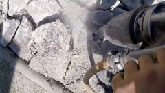 Jack Hammer For Breaking Road Stock Footage