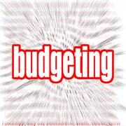 Budgeting word cloud Stock Illustration