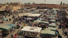 Marrakesh Djemaa el fna square timelapse 2 Stock Footage