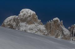 Snow and Peaks in Dolomiti - stock photo