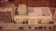 Model of building of Russian State University of Cinematography Stock Footage