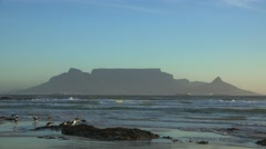 Cape Town at the Sunset Stock Footage