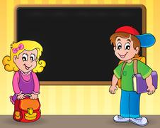 School thematic image - eps10 vector illustration. Stock Illustration