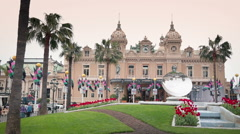 The Famous Monte Carlo Casino Stock Footage