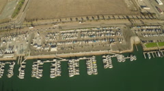Aerial Shot of Channel Islands Harbor Stock Footage