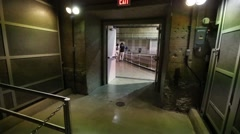 Hoover Dam walking into powerhouse - stock footage