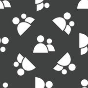 Two people pattern - stock illustration