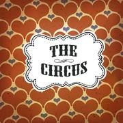 Circus Abstract Poster with Hearts - stock illustration