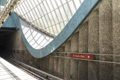 St.-Quirin-Platz subway Station - stock photo