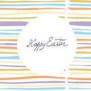 Easter Card Design Stock Illustration