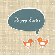 Stock Illustration of Easter Retro Card Design
