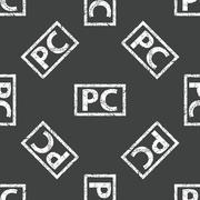 PC stamp pattern Stock Illustration