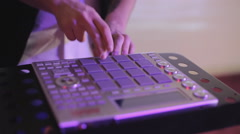 Close-up of the controller playing music in the club Stock Footage