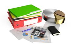 Business, finance and accounting concept  Stock Illustration