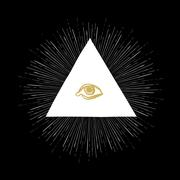 All Seeing Eye on Black Stock Illustration