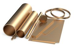 Stock Illustration of rolled metal, bronze assortment