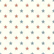 Red and Blue Stars on Textured Background. Seamless Pattern. Stock Illustration