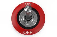 Round metallic switch Stock Illustration