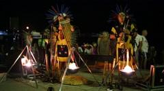 Indians perform at night street In Crimea, Ukraine. Stock Footage