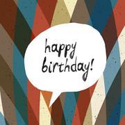 Stock Illustration of Happy Birthday Card