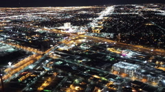 The amazing city of Las Vegas by night Stock Footage