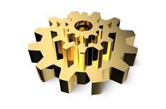 Stock Illustration of Golden gearwheel