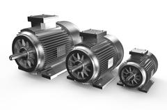Industrial electric motors - stock illustration