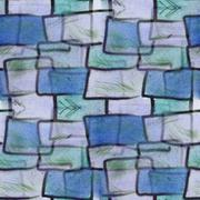 Stock Illustration of Seamless blue, gray squares ancient ornament wallpaper backgroun