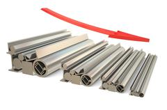 price falls in the steel rolling - stock illustration