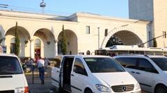 Parking near Railway station in Simferopol. Stock Footage