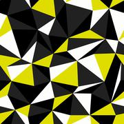 Black and Yellow Colors Triangle Seamless Pattern Stock Illustration
