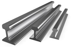 Rolled metal, rails Stock Illustration