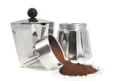 Mocha parts with coffee - stock photo