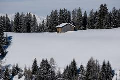 Chalet in the Dolomiti - stock photo
