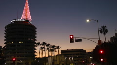 Hollywood at Christmas, Holiday Season Los Angeles tree Stock Footage