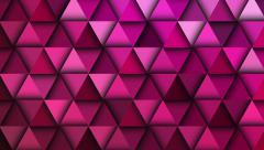 Red triangle abstract background animation, diagonal movement. - stock footage