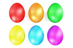 Stock Illustration of multi colored Easter eggs in row