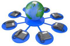 global communication concept - stock illustration