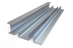 angle, rail and channel steel  bar - stock illustration