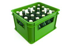 Crate full with beer bottles Stock Illustration