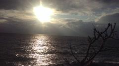 Crimea Russia Sevastopol Fiolent - Black sea, sun , clouds, static camera 1 - stock footage