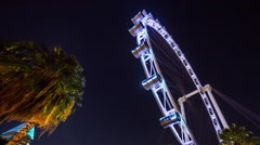 Full HD Time lapse of the singapore flyer close up with wide angle lens - stock footage