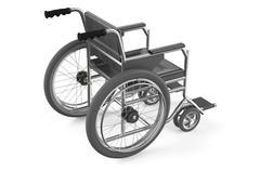black empty wheelchair - stock illustration