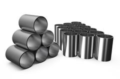 Rolled metal, shot  pipes Stock Illustration